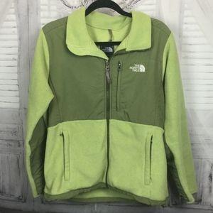 North Face Green Fleece Full Zip Jacket